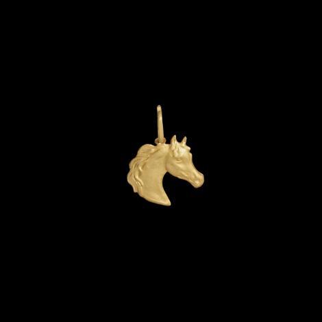 Pingente, Ouro Amarelo, cabeça de cavalo, 0.4gr